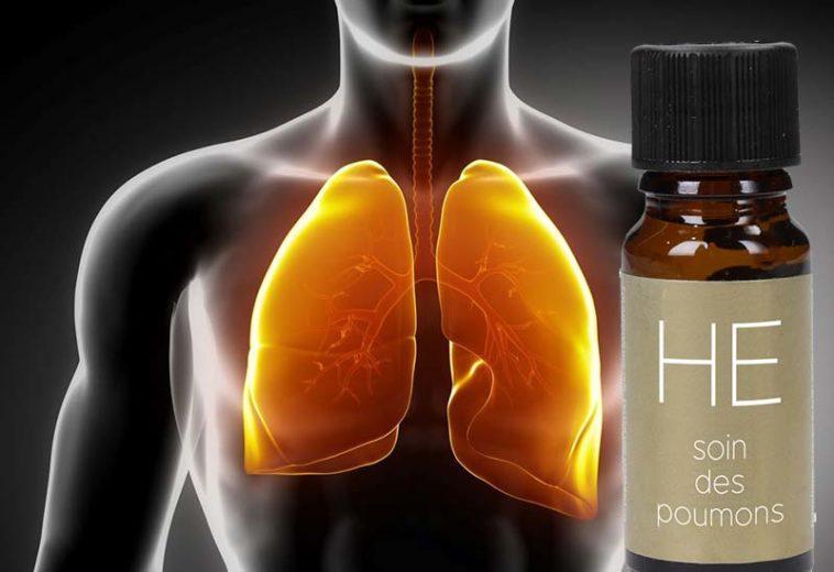 Huiles essentielles poumons encombres
