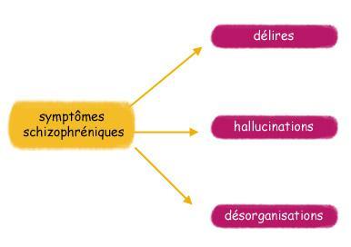 Symptomes de la schizophrenie