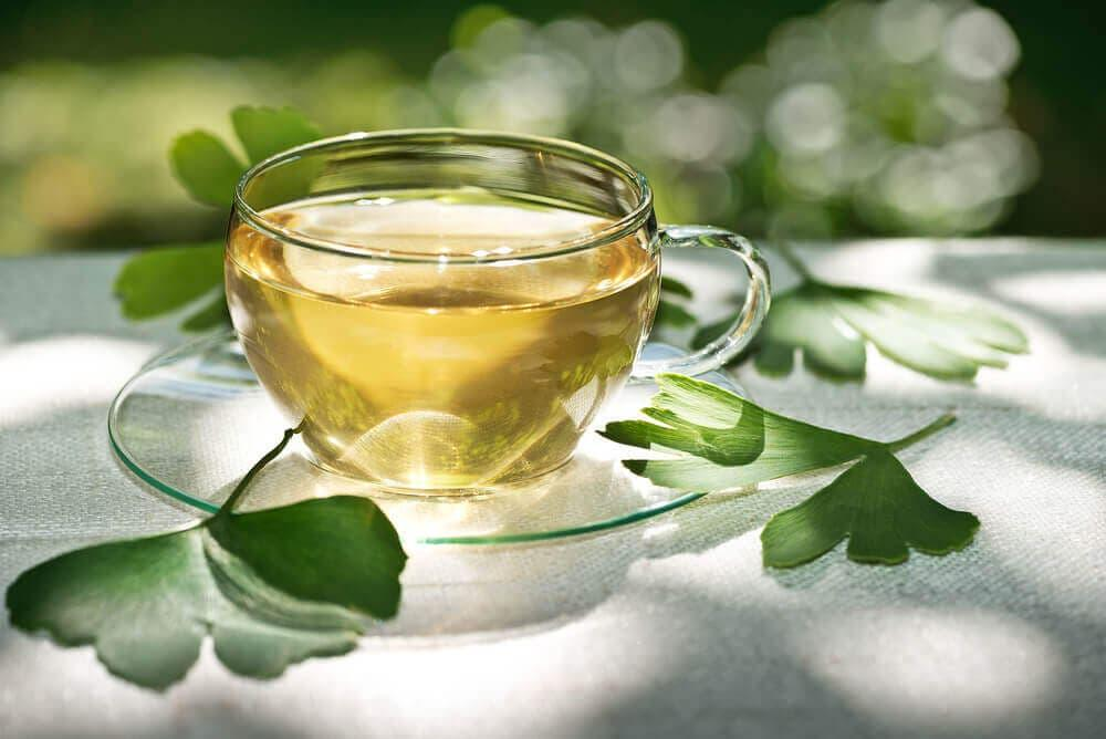Ginkgo tea for schizophrenia