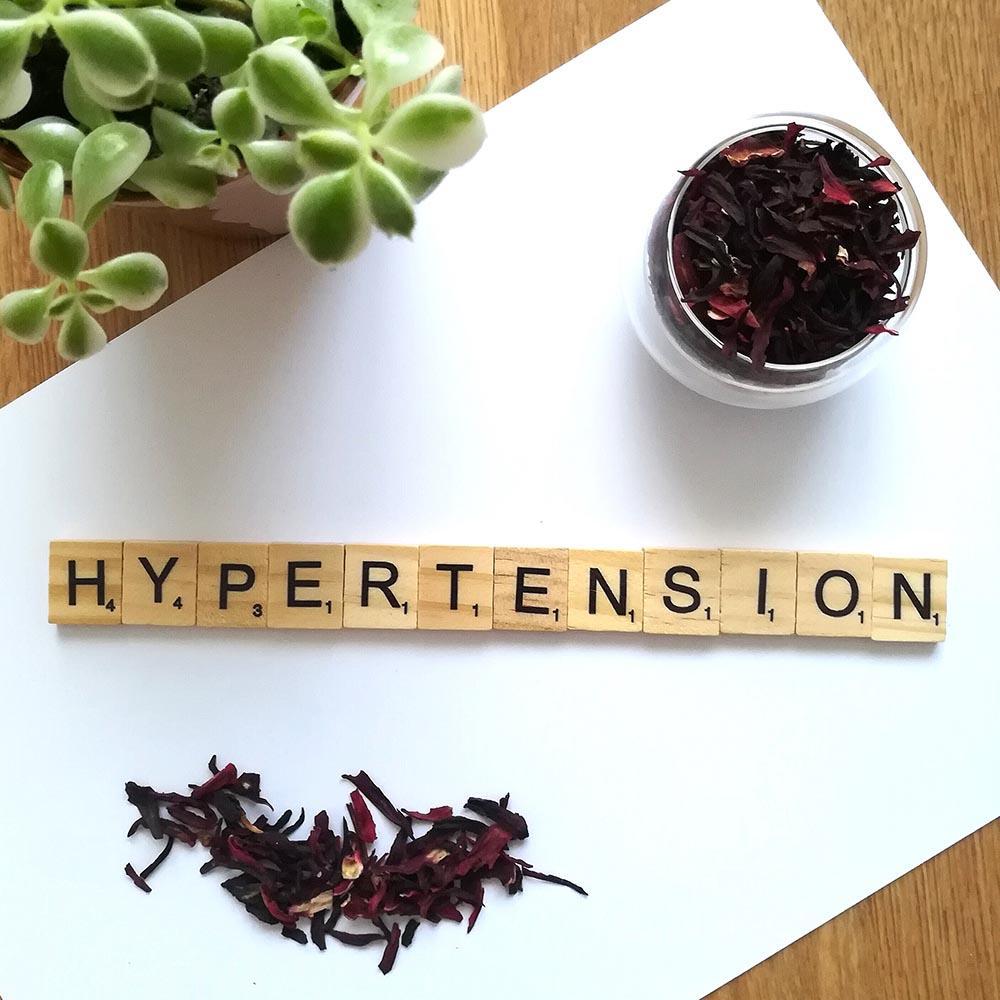Tisane hibiscus hypertension